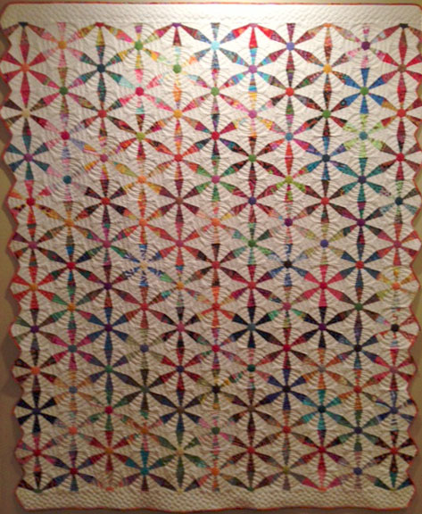 Barb Marshburn's Spring Wheels quilt.