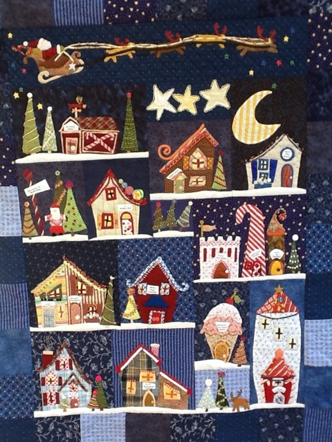 Made with the Welcome to the North Pole pattern by Linda Souza
