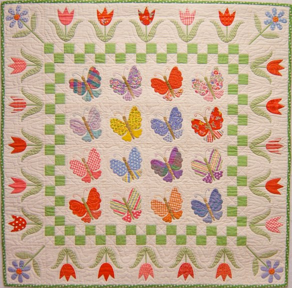 Butterfly Garden from the book Applique Delights by Becky Goldsmith & Linda Jenkins. Quilt by Becky Goldsmith.