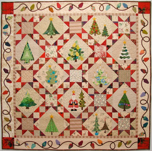 The Christmas Trees from the book A Slice Of Christmas by Becky Goldsmith & Linda Jenkins. Quilt by Becky Goldsmith.