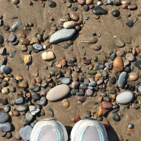 Feet-BeachPebbles