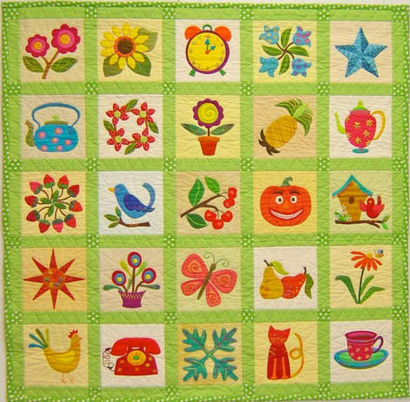 Pin Pal Quilt #1 from the book Applique Delights by Becky Goldsmith & Linda Jenkins. Quilt by Becky Goldsmith.