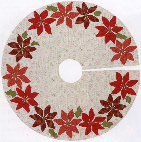 Poinsettia Tree Skirt from the book A Slice Of Christmas by Becky Goldsmith & Linda Jenkins. Made by Becky Goldsmith.