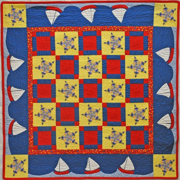 Sail Away is made with blocks from the book Applique Delights by Becky Goldsmith & Linda Jenkins.