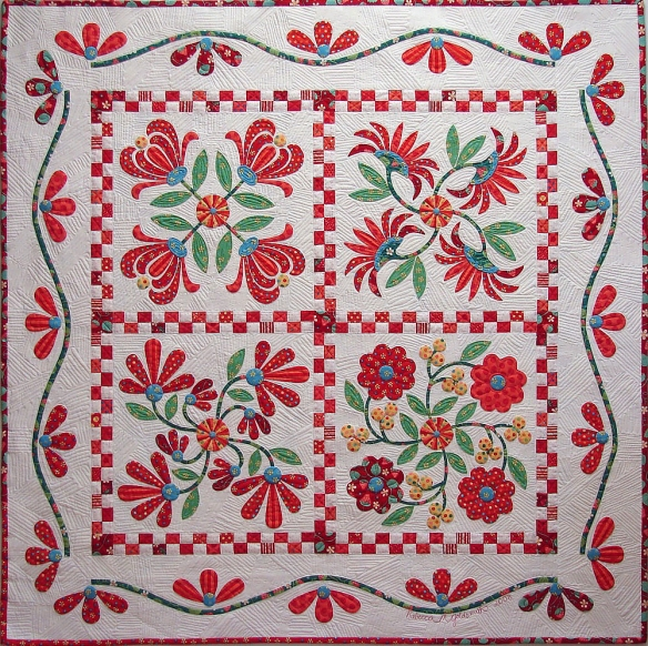 Aunt Millie's Patio Garden from the book Applique Delights by Becky Goldsmith & Linda Jenkins. Quilt by Becky Goldsmith.