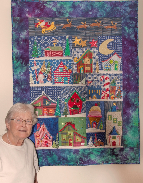 Quilt by Elizabeth Eckroat, my mom!