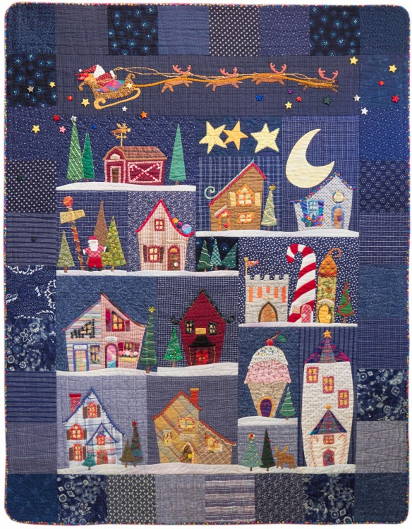 Welcome To The North Pole from the book by the same name by Becky Goldsmith & Linda Jenkins. Quilt by Becky Goldsmith.