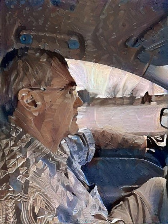 Steve Driving, filtered with Dreamscope app
