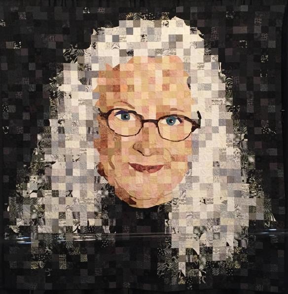 Portrait Noir by Trish Morris-Plise, quilt by Sandra Bruce