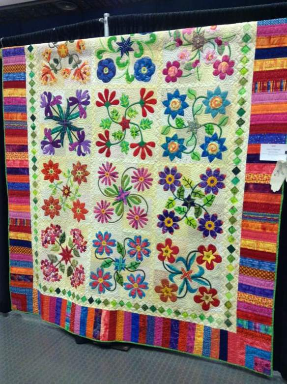 Maine Quilt Show 2017 Stars in the Garden