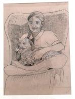 Self Portrait with Peanut by Gabi Van Rensburg, age 12 - 2018